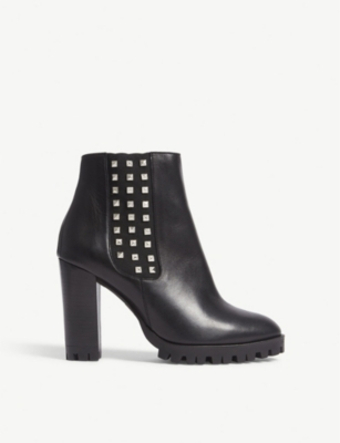 THE KOOPLES Studded heeled leather ankle boots