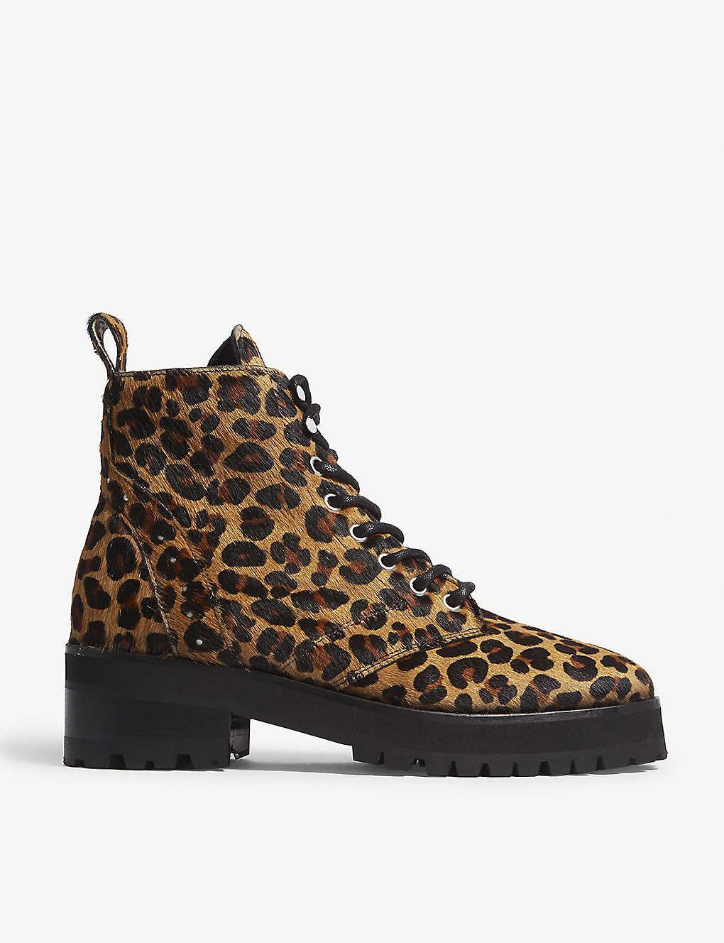174b6759549d THE KOOPLES - Leopard-print pony-hair boots | Selfridges.com