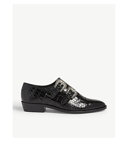 9a976b459d THE KOOPLES - Croc-embossed leather Derby shoes | Selfridges.com