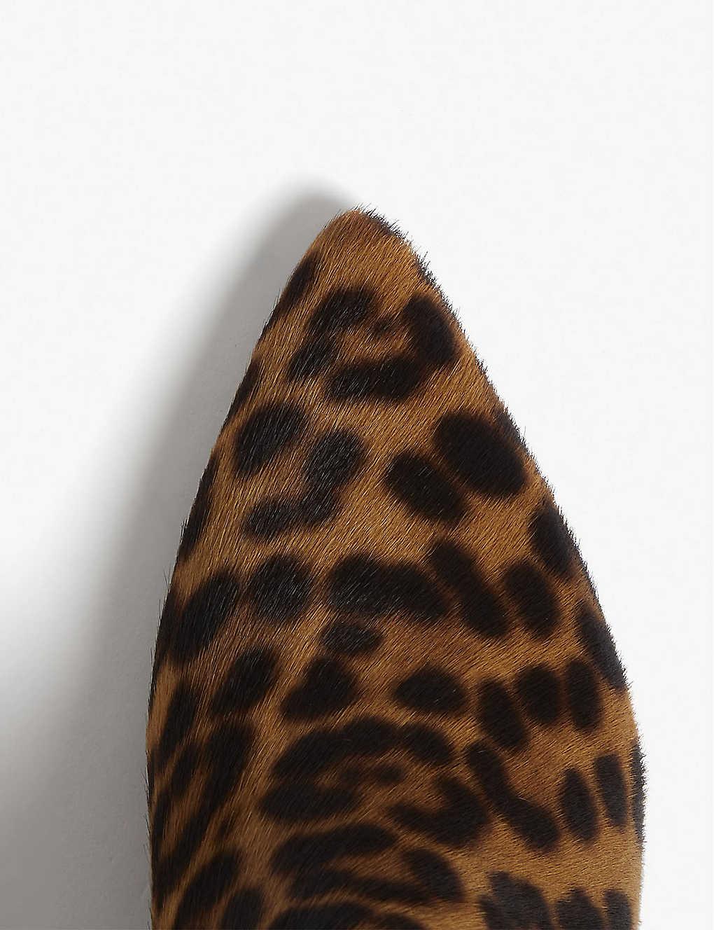 93b6ae079456 THE KOOPLES - Leopard print leather boots | Selfridges.com