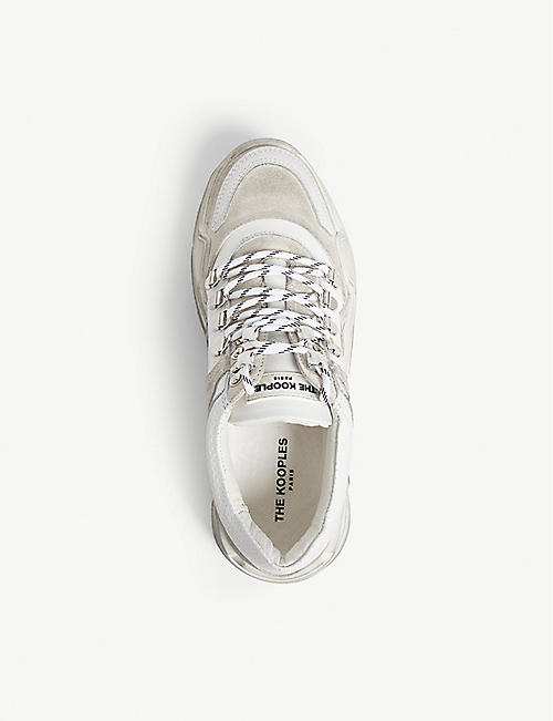 THE KOOPLES Oversized leather trainers