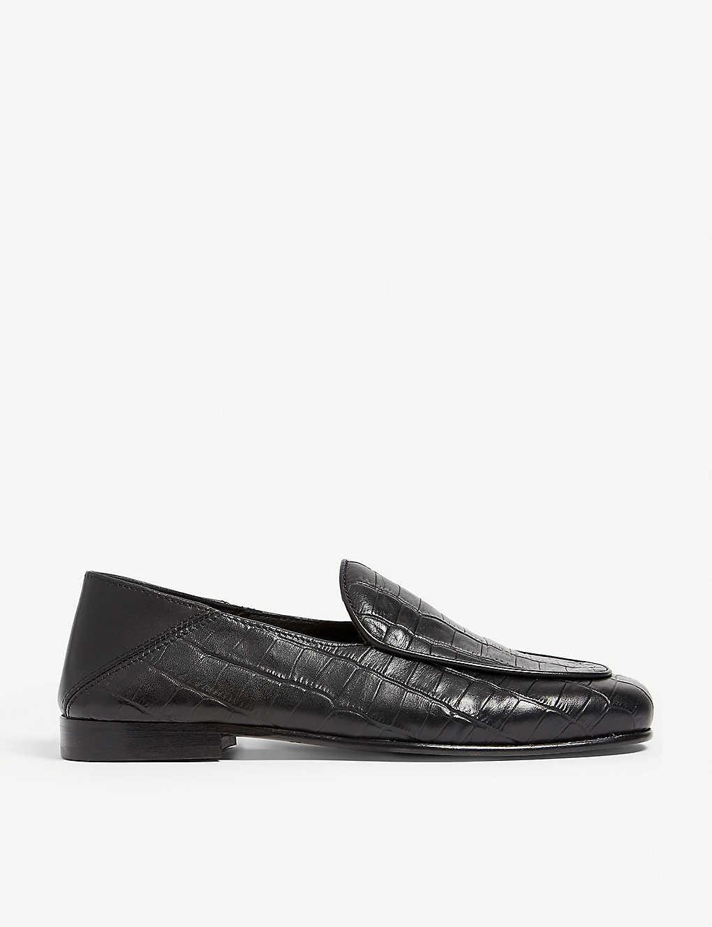9c28b8c976 THE KOOPLES - Croc-embossed leather slippers | Selfridges.com