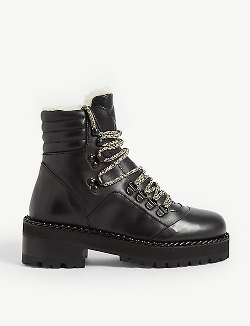 THE KOOPLES Bottines Montagne Fourees leather ankle boots