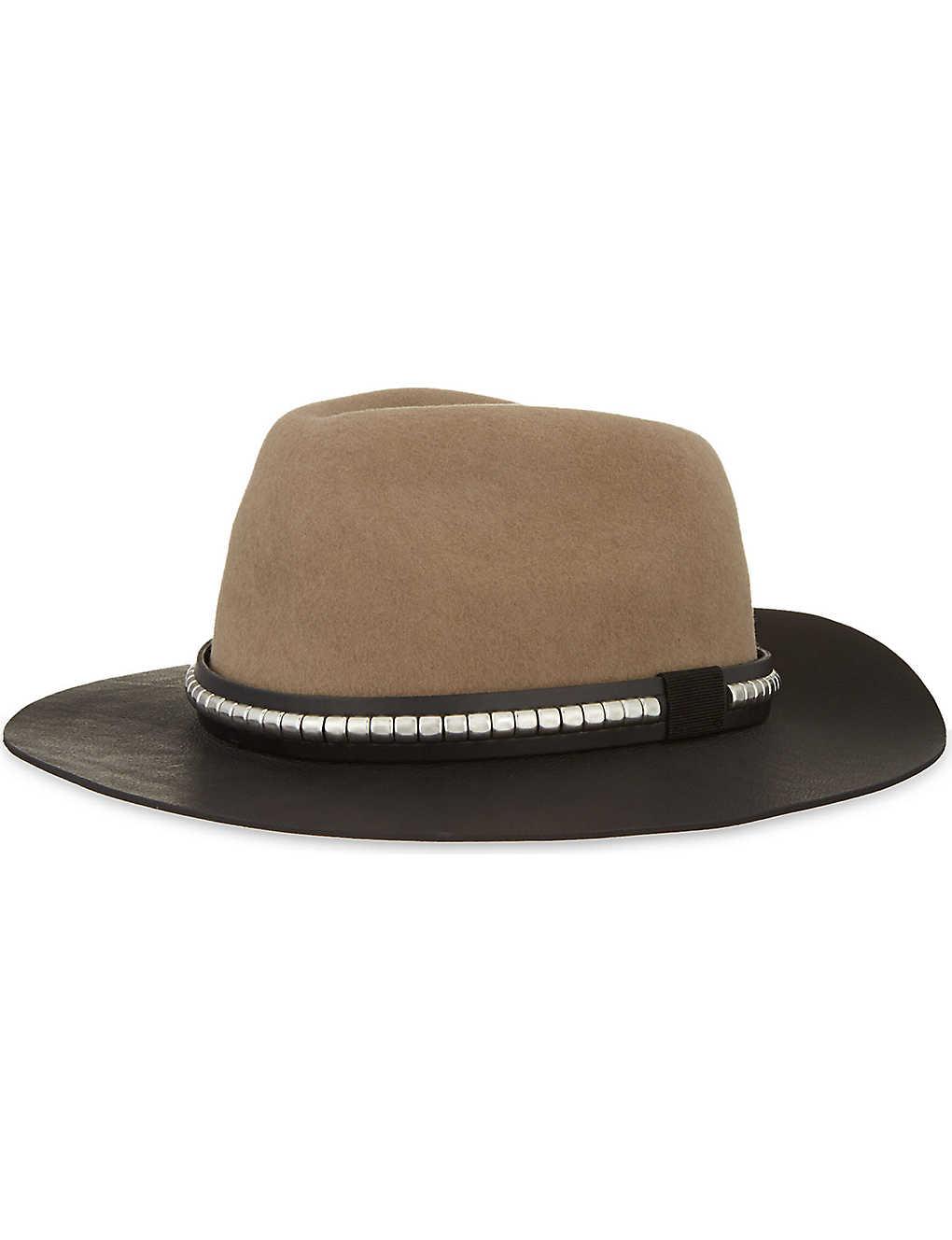 THE KOOPLES - Western leather & felt hat | Selfridges com