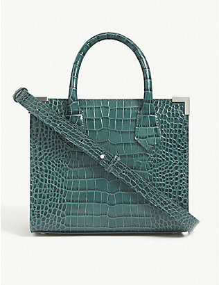 THE KOOPLES: Ming croc-embossed medium leather tote bag