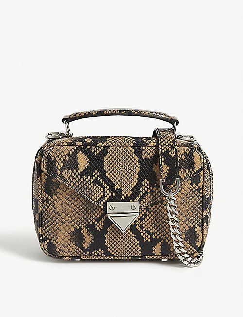 THE KOOPLES Barbara python-effect leather mini crossbody bag
