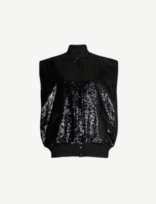 THE KOOPLES Sequin-embellished bomber jacket