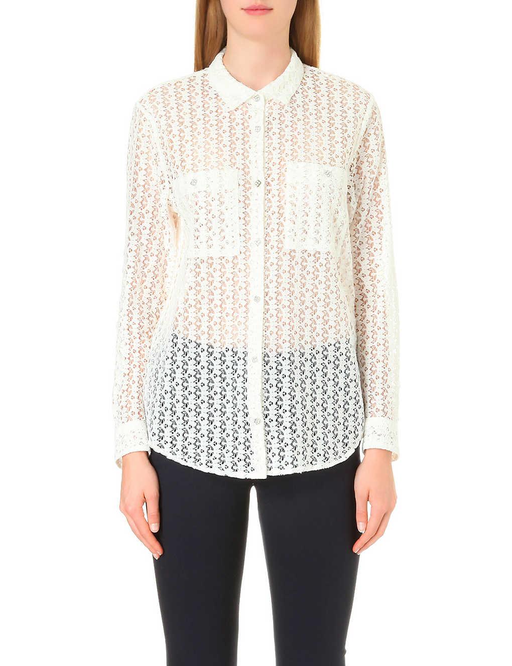 0bee0f2f9d THE KOOPLES - Semi-sheer lace shirt   Selfridges.com