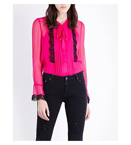 3791e7e01c27d THE KOOPLES - Lace-detail silk-georgette blouse