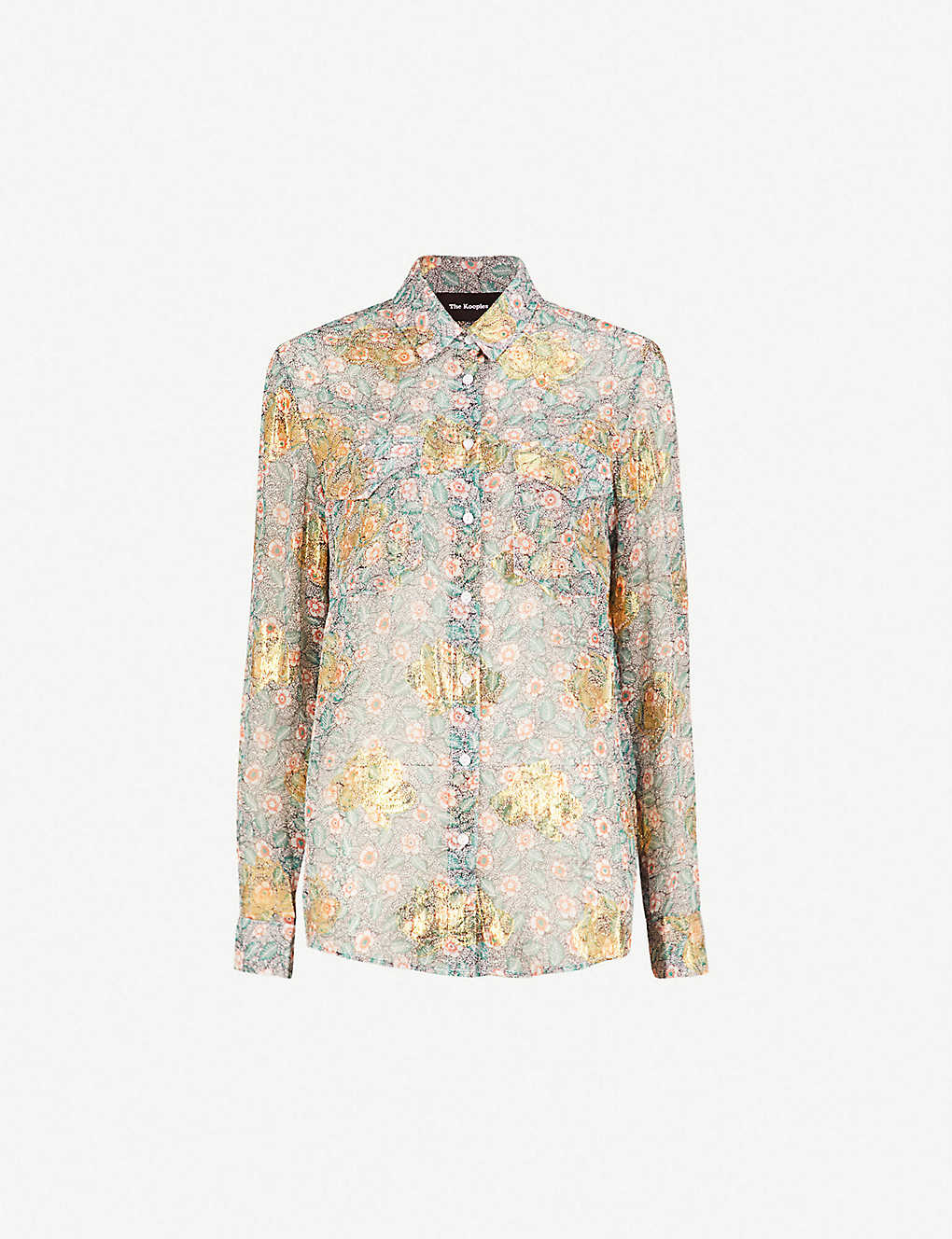 a792711cb85 THE KOOPLES - Western floral-print silk-muslin shirt | Selfridges.com