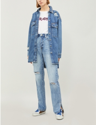 The Kooples STUDDED DENIM SHIRT