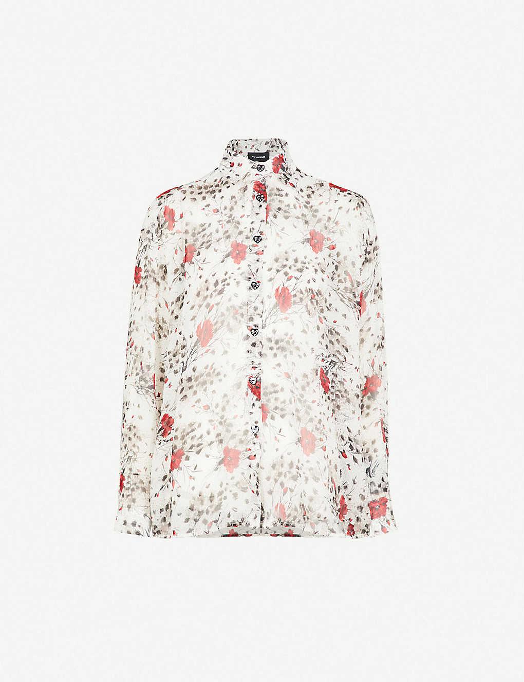 d2c2f2d5e58 THE KOOPLES - Floral-print silk-georgette shirt   Selfridges.com