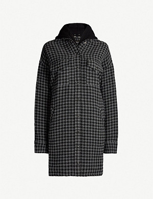 THE KOOPLES Checked woven hooded overshirt