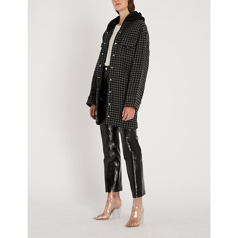 THE KOOPLES   Checked Woven Hooded Overshirt   Goxip