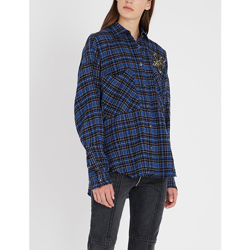 THE KOOPLES   Checked Wool-Blend Shirt   Goxip