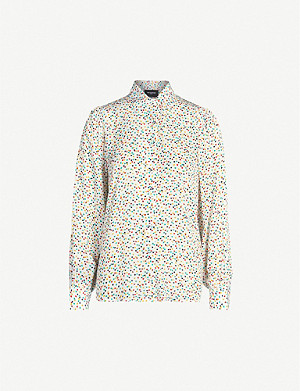 THE KOOPLES Graphic-pattern collared crepe shirt