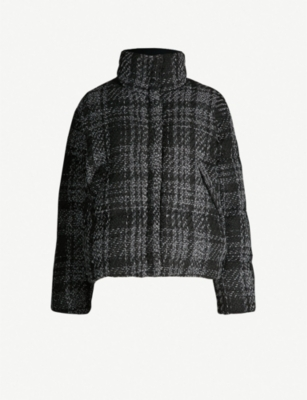 THE KOOPLES Checked woven down-blend jacket
