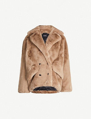 THE KOOPLES Double-breasted faux-fur jacket