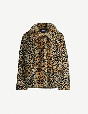 THE KOOPLES Leopard-print faux-fur coat