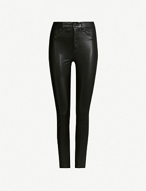 THE KOOPLES High-rise skinny faux-leather trousers