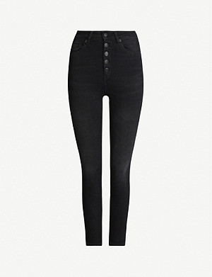 THE KOOPLES Button-fly stretch-denim jeans