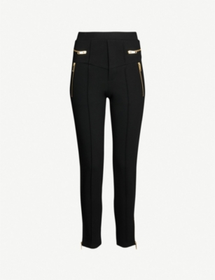 THE KOOPLES Zipped-cuff high-rise slim-fit jogging bottoms