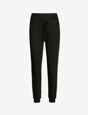 THE KOOPLES Embellished trim cotton-jersey joggers