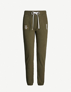THE KOOPLES Branded print cotton-jersey jogging bottoms