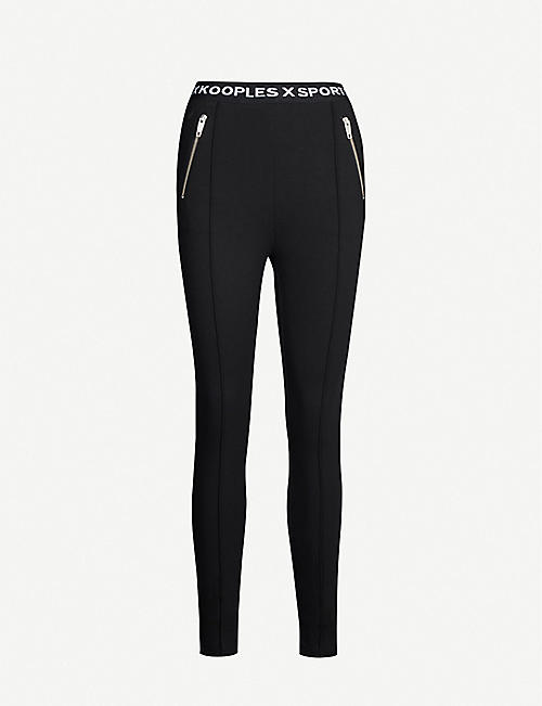 e2bb6ba27fca THE KOOPLES Branded-waistband skinny stretch-jersey leggings