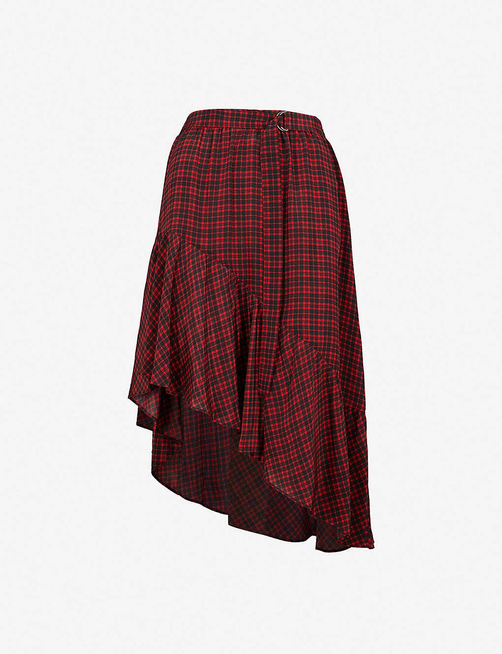 307a88b124 THE KOOPLES - Check-pattern silk-crepe skirt | Selfridges.com