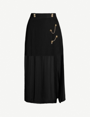 THE KOOPLES Chain-embellished sheer skirt