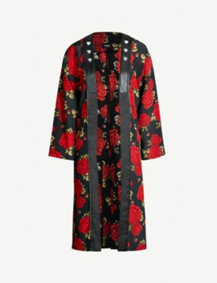 THE KOOPLES Embellished floral-print silk-chiffon jacket