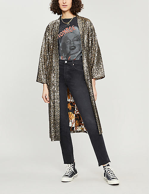 THE KOOPLES Rainbow sequinned kimono
