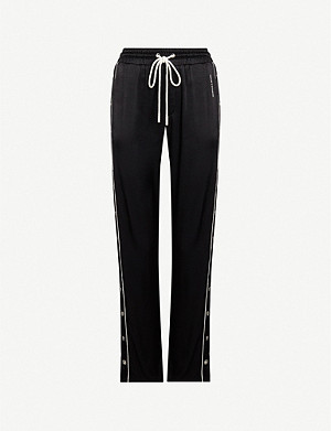 THE KOOPLES Popper-side satin trousers