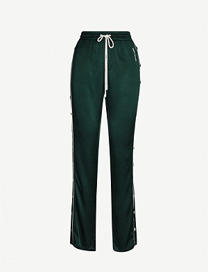 THE KOOPLES Buttoned-down cropped satin jogging bottoms