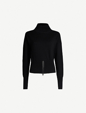 THE KOOPLES Roll-neck wool and cashmere-blend jumper