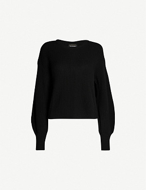 THE KOOPLES SPORT Relaxed-fit merino wool-blend jumper