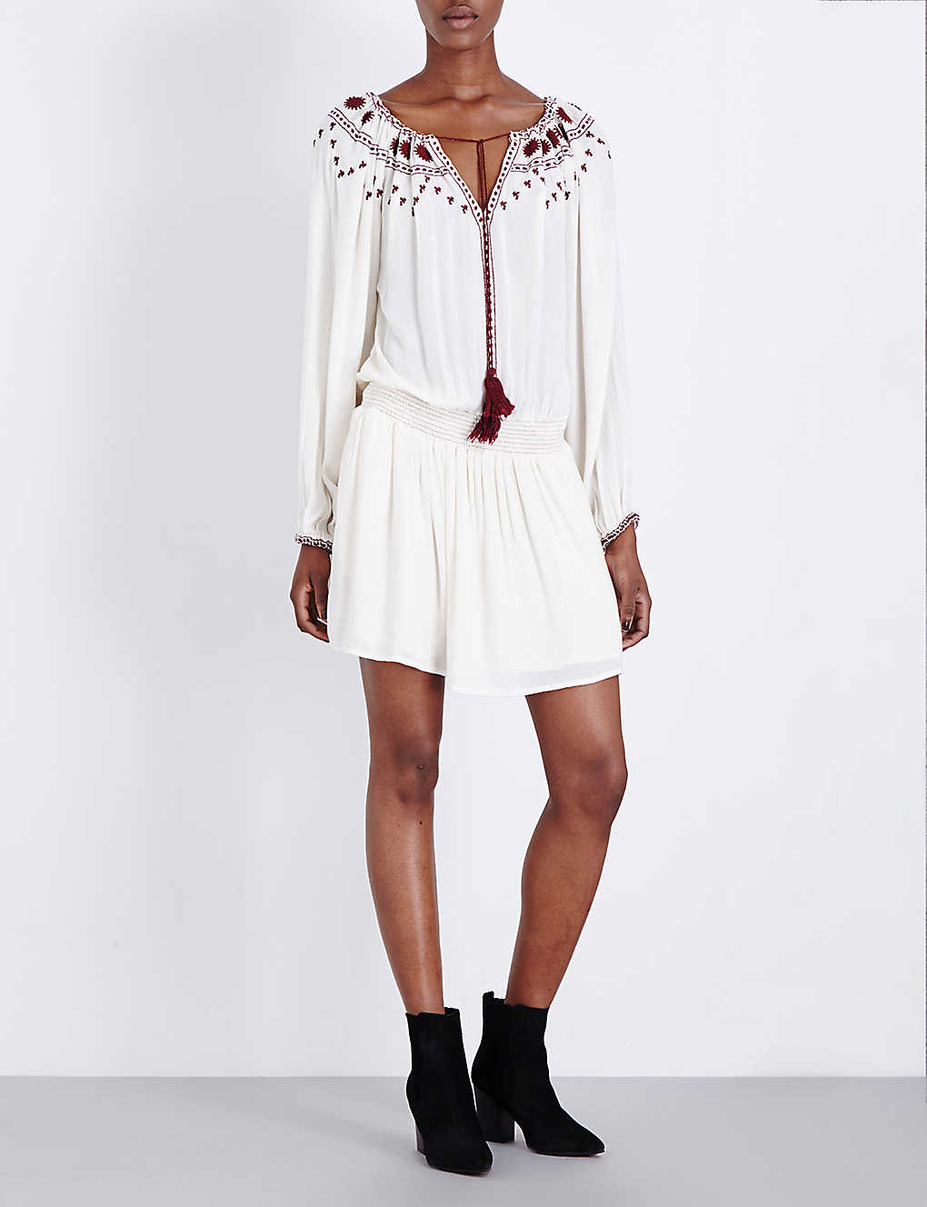 b7b6b839ddd THE KOOPLES - Tassel-tied embroidered dress | Selfridges.com
