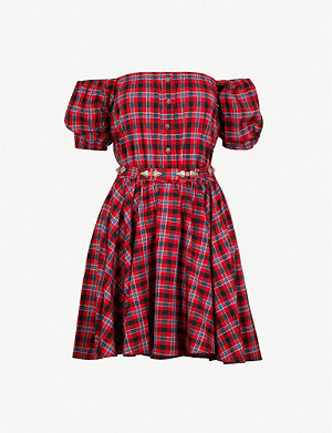 THE KOOPLES Check-pattern cotton-blend dress