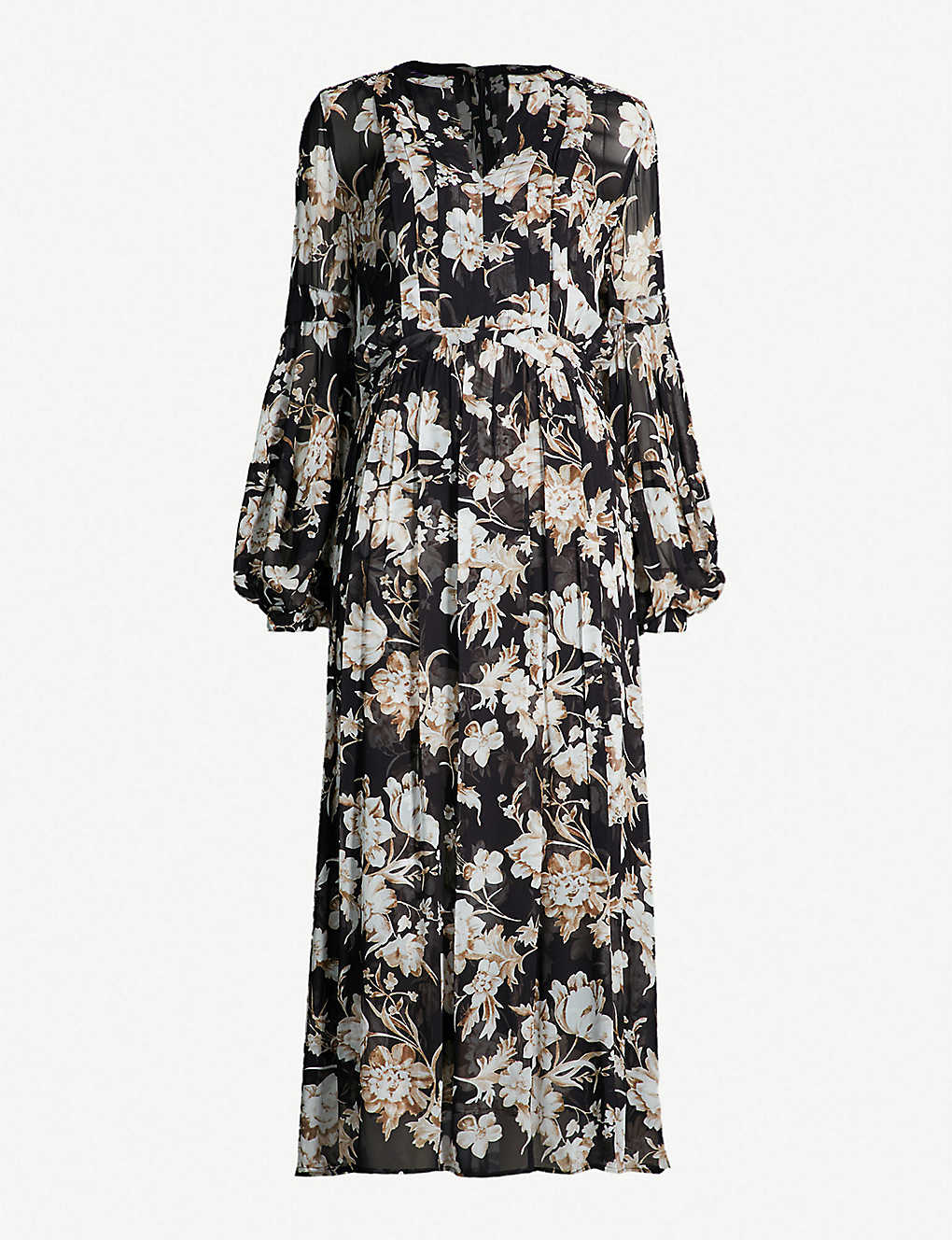 6f947e8515 THE KOOPLES - Floral-print crepe midi dress | Selfridges.com