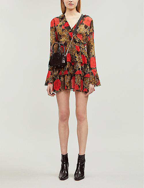 69cd7fcb8997a THE KOOPLES Animal and rose-print chiffon dress