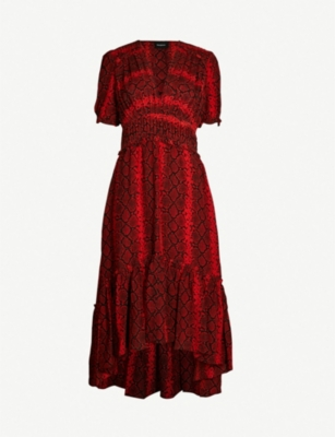 THE KOOPLES Snakeskin-print crepe georgette dress