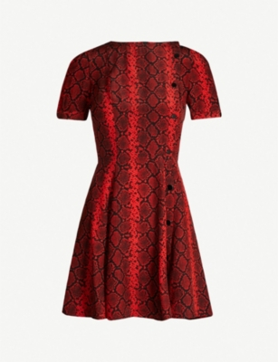 THE KOOPLES Snake print flared dress