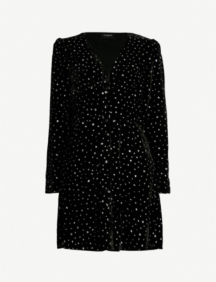 THE KOOPLES Rhinestone-embellished velvet dress