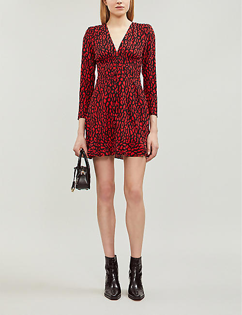 98bb0dade81 THE KOOPLES Leopard-print woven mini dress. Quick Shop