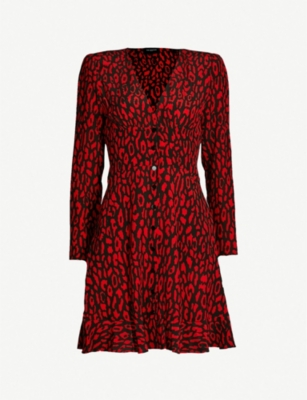 THE KOOPLES Leopard-print woven mini dress