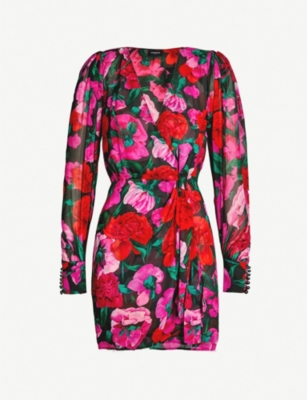 THE KOOPLES Floral print silk-chiffon wrap dress