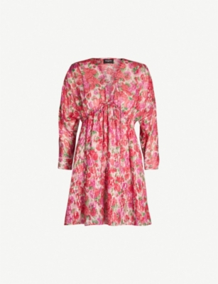 THE KOOPLES Floral print tie front frill mini dress