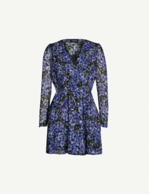 THE KOOPLES Floral-print silk-georgette dress