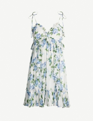 THE KOOPLES Floral-print ruffled chiffon dress